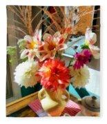 Farm Table Bouquet Fleece Blanket