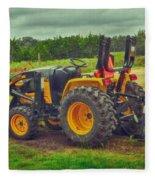 Farm Tractor Fleece Blanket