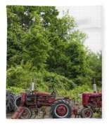 Farmall Tractors All In A Row Fleece Blanket