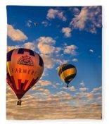 Farmer's Insurance Hot Air Ballon Fleece Blanket