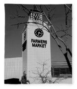 Farmers Market Bw Fleece Blanket