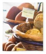 Farmer's Market Fresh Bread Fleece Blanket