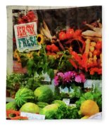 Farmer's Market Fleece Blanket