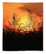 Farmer's Sunrise Fleece Blanket