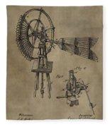Farmer's Windmill Fleece Blanket