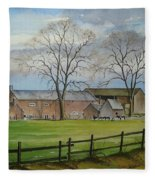 Farming In The Staffordshire Countryside Fleece Blanket