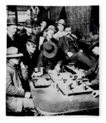 Faro Game Orient Saloon C. 1900 - Arizona Fleece Blanket