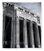 Farrington Field Facade Bw Fleece Blanket