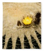Fascinating Cactus Bloom - Soft And Fragile Among The Thorns Fleece Blanket