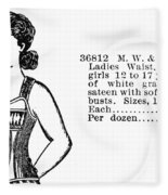 Fashion Corset, 1895 Fleece Blanket