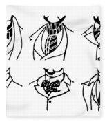 Fashion Cravats And Ties Fleece Blanket