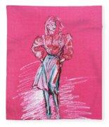 Fashion Figure Fleece Blanket