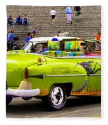 Fast And Furious In Cuba Fleece Blanket