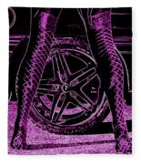 Faster In Fishnets Fleece Blanket