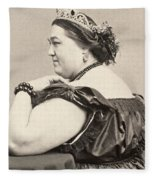Fat Lady, 19th Century Fleece Blanket