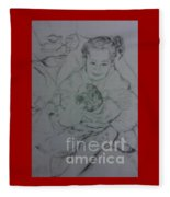 Father's Loves  Fleece Blanket