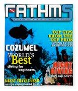 Fathms Faux Magazine Cover Fleece Blanket