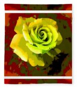 Fauvism Roses Triptych Fleece Blanket