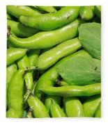Fava Bean Pods Fleece Blanket