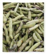 Fava Beans Fleece Blanket