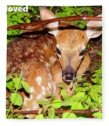 Fawn In The Forest - Inspirational - Religious Fleece Blanket