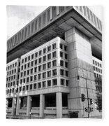 Fbi Building Rear View Fleece Blanket