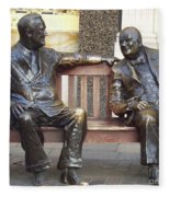 Fdr And Churchill Having A Chat In London Fleece Blanket