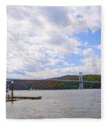 Fdr Mid Hudson Bridge - Poughkeepsie Ny Fleece Blanket