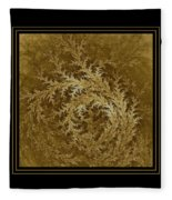 Fear Of The Forest-2 Framed Black And Gold Fleece Blanket