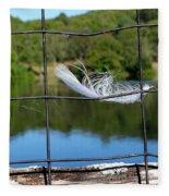 Feather And Fence Fleece Blanket