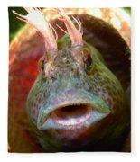 Feather Blenny - A Fish  Fleece Blanket