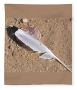 Feather On Damp Sand Fleece Blanket