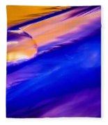 Feather Sunset Fleece Blanket