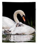 Feather Sunshade Square Fleece Blanket