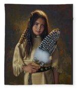Feathers And Light Fleece Blanket