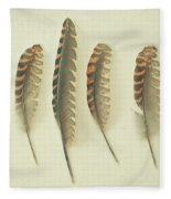 Feathers No2 Fleece Blanket