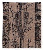 Feathers Thorns And Broken Arrow Bookmark No1 Fleece Blanket