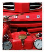 Featured Old Ford  Front On Fire Engine Denmark  Fleece Blanket