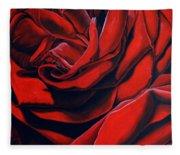 February Rose Fleece Blanket