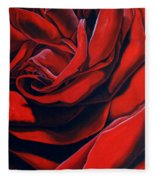 February Rose Fleece Blanket