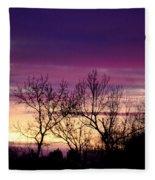 February's Dramatic Sunrise Fleece Blanket