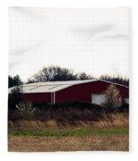 February's Red Barn Fleece Blanket