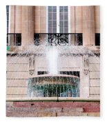 Federal Building Fountain Fleece Blanket