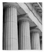 Federal Hall Columns Fleece Blanket