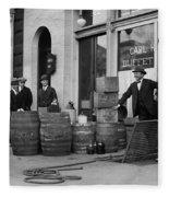 Federal Prohibition Agents 1923 Fleece Blanket