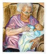 Feeding Baby 1 Fleece Blanket