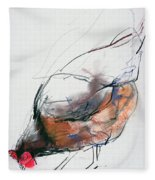 Feeding Hen, Trasierra Fleece Blanket