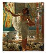 Feeding The Sacred Ibis In The Halls Of Karnac Fleece Blanket