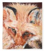 Feeling Foxy Fleece Blanket