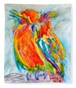 Feeling Owlright Fleece Blanket